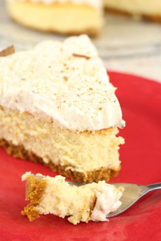 cheesecake with a cream layer