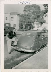 Ozzie and his car in 1954.