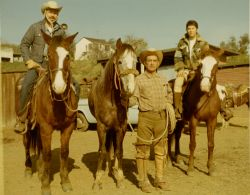 Ozzie, Don Jose, the master horseman, and Sergio (now Del)