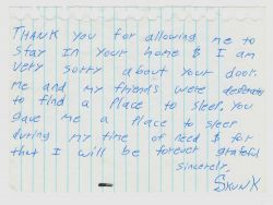 Skunk's thank you note