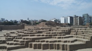 Huaca Pucllana ruins in the middle of the city