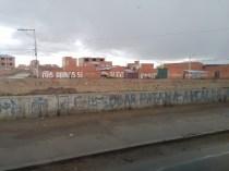 """Everywhere in Bolivia we saw """"Si Evo!"""""""