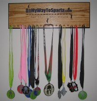 Customized medal holders  On My Way To Sparta