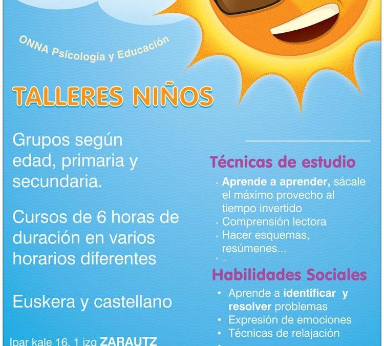 CURSOS PARA NIÑOS (6-11 años) Y ADOLESCENTES (12-16 años)