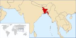 World Map and Bangladesh