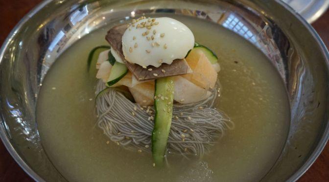 大久保「板橋(パンギョ)冷麺」本場冷麺と韓国餃子&プルコギ