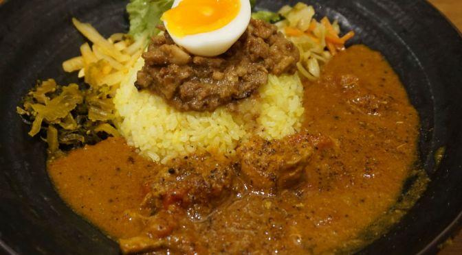 大久保「SpicyCurry魯珈」インドカレー&台湾魯肉飯の融合の妙技、実に面白い。