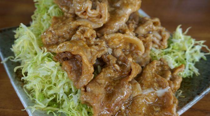 大森「光楽亭」オンリーワンの生姜焼き。環七沿いにある燻し銀の中華料理屋。
