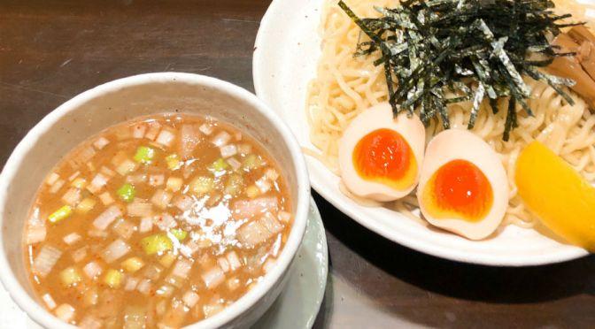 浅草橋「めんや来吉」独特な風味のアッサリとしたつけ麺。
