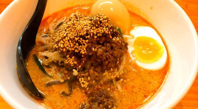 小川町「かつぎや」日式らしい芝麻醤の豊かな深みのある美味しい坦々麺。
