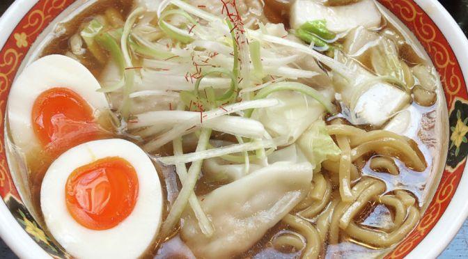 新橋「しお福」美味しいワンタン麺専門店。