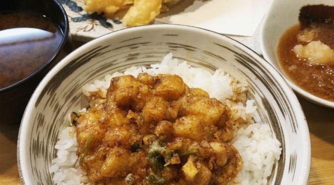 西日暮里「天正」天ぷらと天丼のセットメニュー「のっけ定食」はいいね。