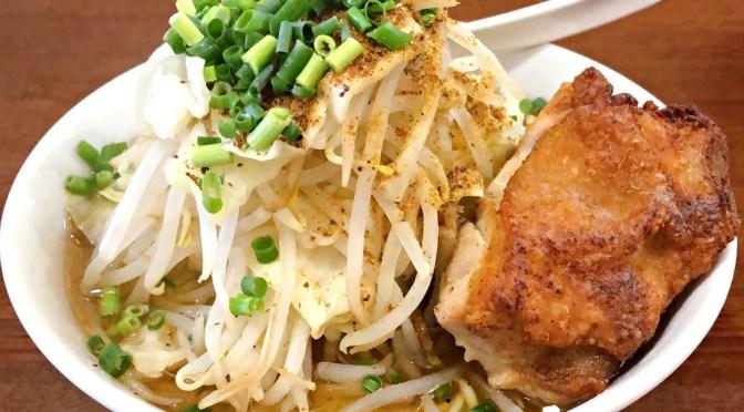 十条「鶏八朗」二郎っぽい鶏塩ラーメン旨し。