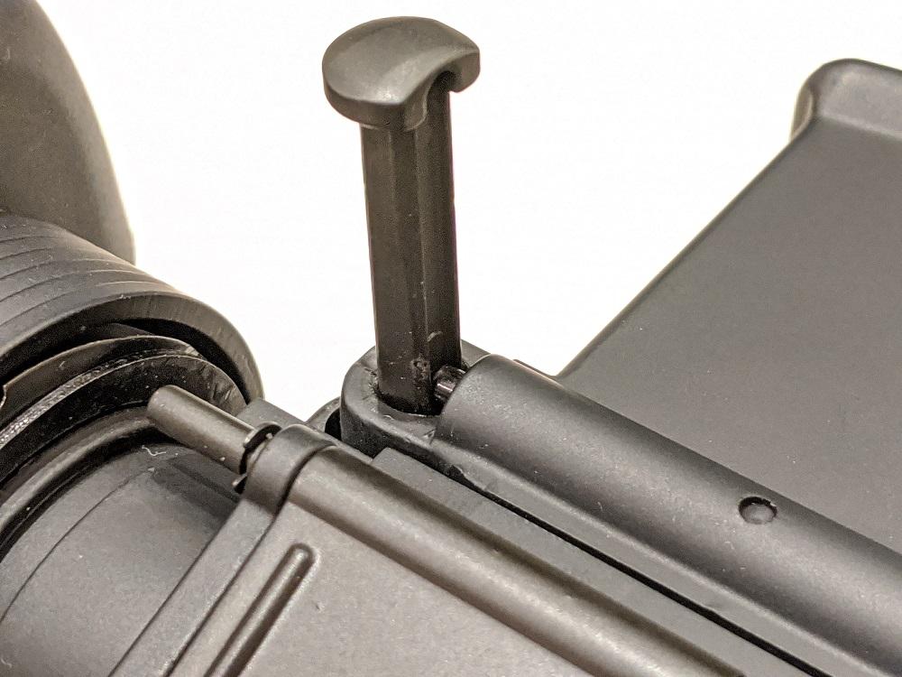 M16A1ETU フレームロックピン 紛失防止機構
