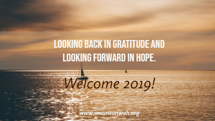 Looking Back in Gratitude and Looking Forward in Hope.