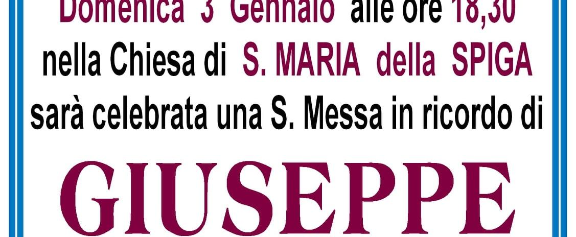1° anniversario Giuseppe Sasso