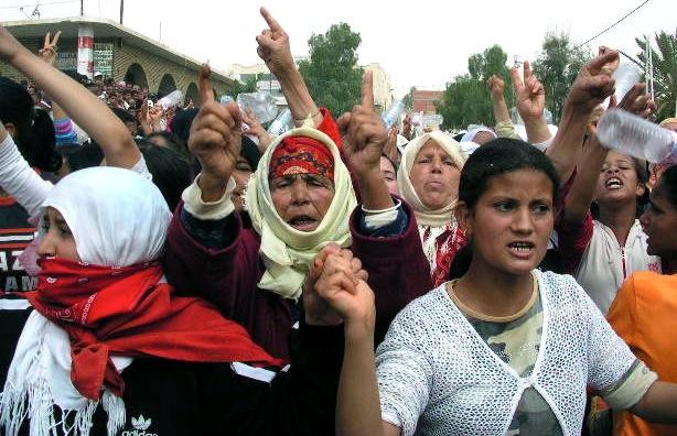 """""""Révolte des mères, épouses et soeurs des prisonniers du soulèvement de Redeyef en 2008."""""""