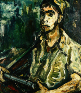 Aharon Avni, Self Portrait of a Soldier, 1948.