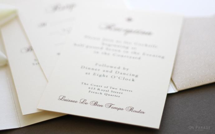 The Elizabeth Suite Reception detail