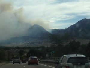 June 26, 2012 fire behind Bear Mountain heading to my parents' house.