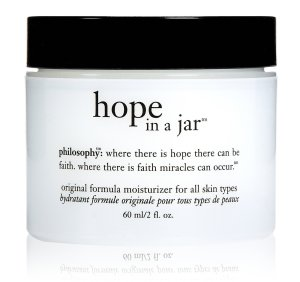 Here's 2 oz of Hope In a Jar.  For $40 it gives me healthy, radiant skin.  And maybe a miracle too -- if I have enough faith!