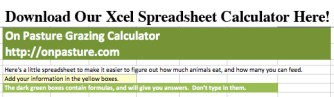 Top Title of Grazing Calculator