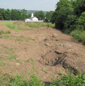 Site after excavation.