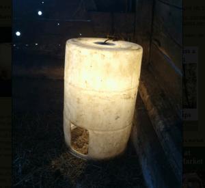 Warming Barrel by Sandra Kay Miller
