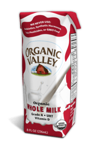 Organic Valley is now producing shelf-stable milk in single-serving containers. Reviewers say it tastes good too.