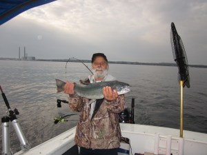 Ken's steelhead - not bad at all!