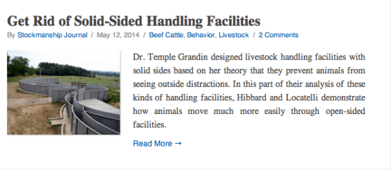 Get Rid of Solid Sided Handling Facilities