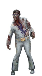 The only thing worse than Fat Elvis is Fat Zombie Elvis!