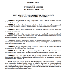 Maine Soils Resolution