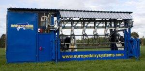 Dairymaster mobile milking parlor.
