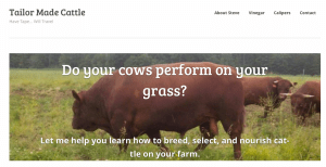 Here's Tailor Made Cattle's website.
