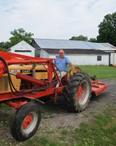 Troy's Dad heading out to clip some pastures.