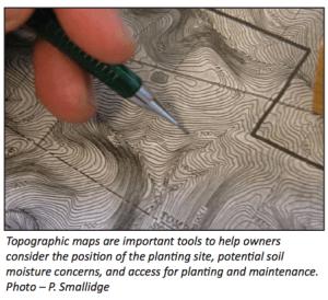 Topo maps for silvopasturing decisions