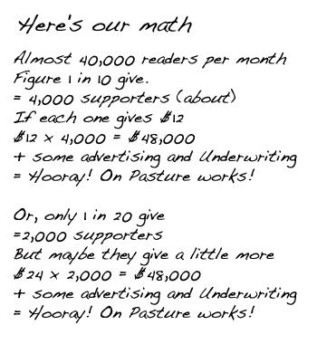 On Pasture Math