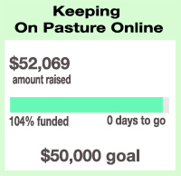 With one last, REALLY BIG push, you put us over the top of our goal! Wow! Thank you all so much!!