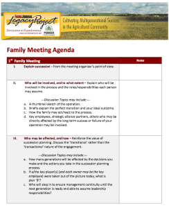 Cover of Family Meeting Agenda