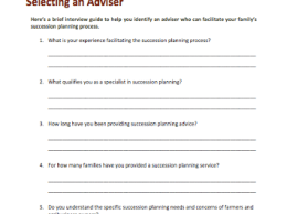 Here are questions you can ask when interviewing potential advisors.