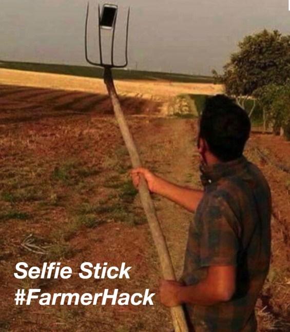 Farmer Selfie Stick