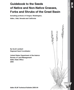 Great Basin Plant ID Cover