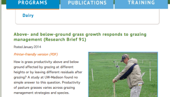 What Two Grasses Tell Us About Grazing Management