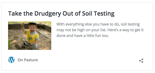 Take the Drudgery Out of Soil Testing