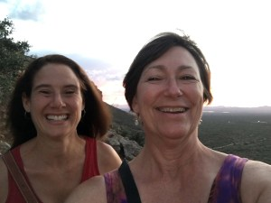 Here are Rachel and Kathy celebrating a Friday sunset together in Tucson. We're a great match!