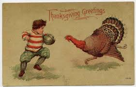 Did you know that football has been part of Thanksgiving since 1876?! It was a day that everyone had off, so they could go to the game.