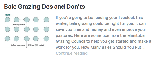 Bale Grazing Dos and Don'ts. If you're going to be feeding your livestock this winter, bale grazing could be right for you. Here are some tips to get you started.