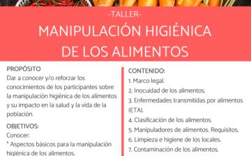TALLER MANIPULACIÓN HIGIÉNICA DE LOS ALIMENTOS