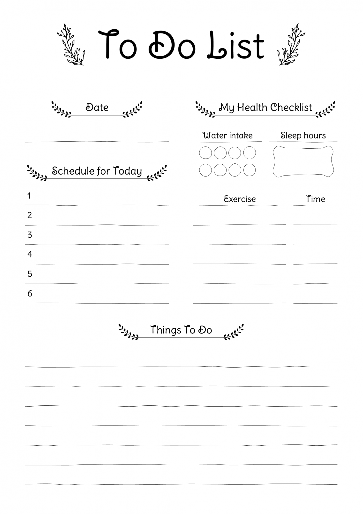 Free Printable Daily To Do List PDF Download